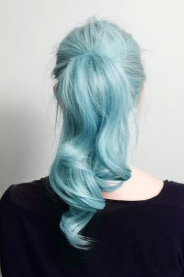 Pastel Blue Hair - Hair inspiration from juliafwest.com